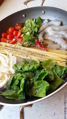 One pot pasta aux crevettes et épinards