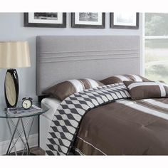 Silver king/California king size upholstered headboard is handcrafted for the ultimate in comfort and style.  This plush upholstered headboard is generously padded and can be attached to most standard metal bed frames