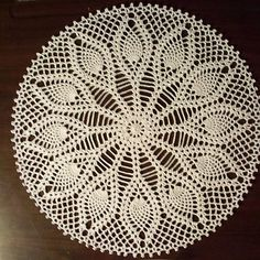 Ravelry: Pineapple Plumes Doily  Free pattern by Priscilla Hewitt