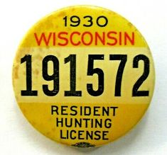 Hudson Wisconsin, Hunting License, Vintage Cabin, Buttons, Ebay, Knots, Plugs