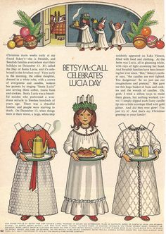 BETSY McCALL CELEBRATES LUCIA DAY, 1972 - my grandmother used to save me all of the betsey paper dolls from her McCalls' magazines.