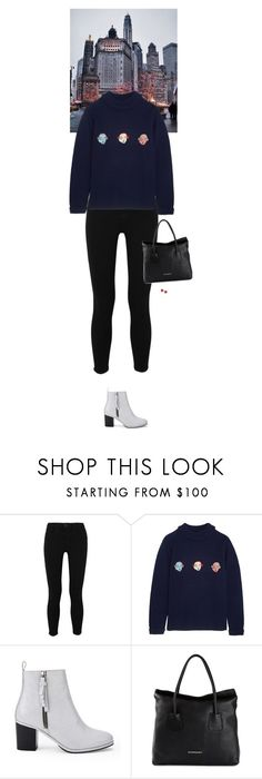 """""""Outfit of the Day"""" by wizmurphy ❤ liked on Polyvore featuring L'Agence, Shrimps, Opening Ceremony, Burberry, MSGM, ootd and shrimps"""