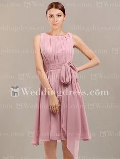 Hawaii Chiffon A-Line Wedding Party Dress BR045