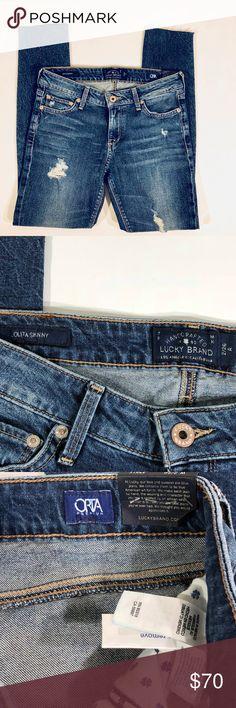 NWT Lucky Brand Lolita Distressed Skinny Jeans 26 brand new Lolita skinnies.   Inseam 26 Lucky Brand Jeans Skinny