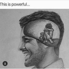 You never know, depression, mental illness, fake it til you make it Hannya Maske, Depression Art, Depression Awareness, Ptsd Awareness, Sad Drawings, Sad Sketches, Sketches, Journal Art