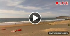 View on the beach of El Médano, one of the best places for surfers in the world