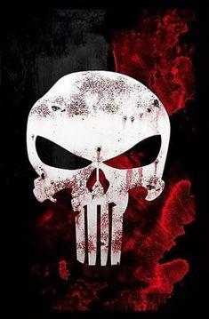 The Punisher War Zone - mike's bday cake -- to stencil with frosting The Punisher, Punisher Tattoo, Punisher Logo, Punisher Skull, Wallpaper Kawaii, Skull Wallpaper, Marvel Avengers, Marvel Comics, Badass Skulls