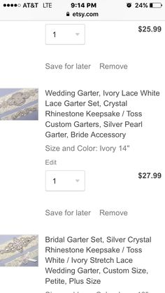 Purple French Lace Designer Wedding Garter
