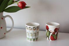 Elsa Beskow mugs Pyrola & the Strawberry family.