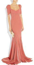 Zac Posen  Stretch satin-crepe fishtail gown  $2,790