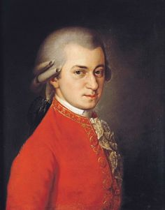 Posthumous portrait of Mozart by Barbara Krafft, 1819.