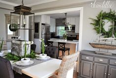 A Few Simple Touches Christmas in Jason's Kitchen, Dining Room and Home Office by Dear Lillie