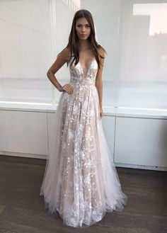 prom dresses,long prom dresses,lace prom dresses,champagne prom party dresses,deep v-neck prom party dresses