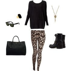 Combat boots and patterned leggings! Love this combination! =D