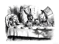 Illustration by John Tenniel for the original edition of Alice in Wonderland, written by Lewis Carroll in 1865