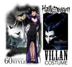 """60-Second Style: Villain Costume"" by elena-indolfi ❤ liked on Polyvore featuring Leg Avenue, Halloween, 60secondstyle and villaincostume"