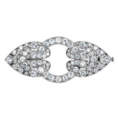 Art Deco 6 Carat Diamond Platinum Brooch Circa 1920s
