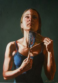 Anatomical Self Dissections by Danny Quirk painting body anatomy