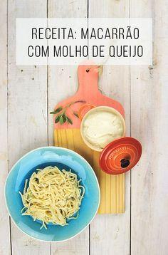 Receita de molho cremoso com queijo Danablu (ou Roquefort ou Gorgonzola) para ser servido com massa // Macarrão com molho de queijo // Receitas de pratos salgados, rápidos e fáceis! :-) // palavras-chave: receita, passo a passo, tutorial, gastronomia, cozinha, receita, macarrão, massa, carboidrato, molho, molho de queijo