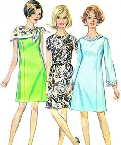 1960s Dress Pattern Simplicity 7768 Mod Princess by paneenjerez, $16.00