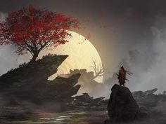 1920x1080 Lone Samurai 1080P Laptop Full HD Wallpaper, HD Fantasy 4K Wallpapers | Wallpapers Den