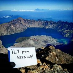 #i #love #you #mount #lake #rinjani #indonesia