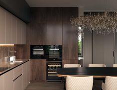 Luxury Kitchen Design, Kitchen Room Design, Kitchen Cabinet Design, Home Decor Kitchen, Interior Design Living Room, Small Kitchen Layouts, Open Plan Kitchen Living Room, Pantry Design, Cuisines Design