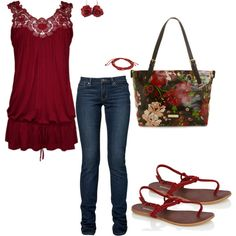 Venom Red, created by pamelajewel on Polyvore