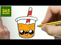 COMMENT DESSINER DU JUS D'ORANGE KAWAII ÉTAPE PAR ÉTAPE – Dessins kawaii facile - YouTube