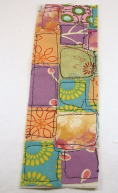 Fabric bookmark patchwork Art Quilt