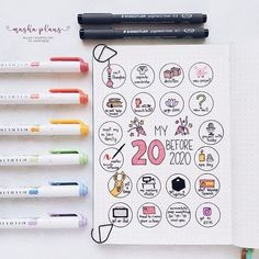 Masha ( 20 before 2020 spread in my Bullet Journal. Want to start a Bullet Journal? Here is all you need to know to start on your Bullet Journal adventure and absolutely nail it! Bullet Journal Books To Read, Bullet Journal Bucket List, Bullet Journal December, Bullet Journal Calendar, Bullet Journal Wishlist, Bullet Journal Banners, Bullet Journal Doodles, Bullet Journal Weekly Spread, Bullet Journal For Beginners