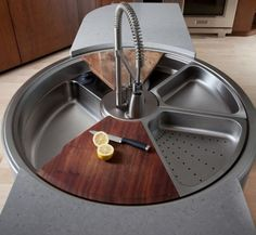 This Rotating Sink Has a Cutting Board, Colander, and It Spins. Wait, What? | The Kitchn