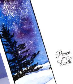 Glimpse of spruce closeup Heather Telford - Penny Black Magic of the Season stamp