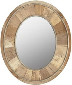 Harcourt Reclaimed Elm Wood Mirror from OKA