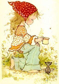 ❤️️️️Sarah Kay Sarah Key, Mary May, Holly Hobbie, Decoupage, Illustration Girl, Vintage Illustrations, Sketching, Fairytale, Clip Art