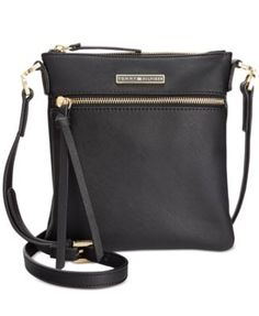 TOMMY HILFIGER Tommy Hilfiger Naomi Saffiano Leather Crossbody. #tommyhilfiger #bags #shoulder bags #leather #crossbody #