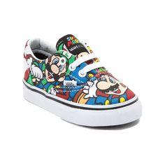 Toddler Nintendo and Vans Era Mario Skate Shoe Baby Vans, Baby Boy Shoes, Boys Shoes, Kicks Shoes, Vans Sneakers, Journeys Kidz, Toddler Converse, Vans Girls, Little Fashion