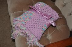 Beautiful granny square baby blanket $40