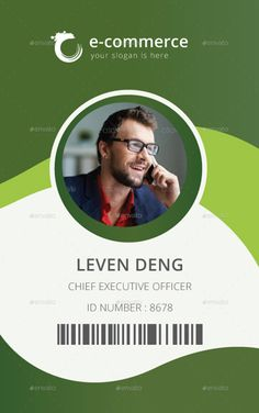 Id Card Design Template Best Of 15 Best Id Card Template Design In Psd and Ai Designyep Id Card Template, Business Plan Template, Card Templates, Certificate Templates, Design Templates, Id Design, Badge Design, Logo Design, Vector Design