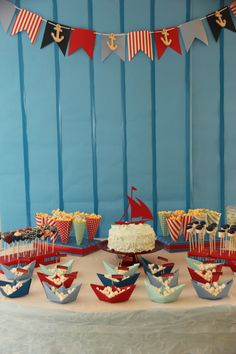 sailing boat birthday party
