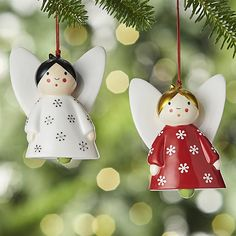 Ceramic Angel Bell Ornaments | Crate and Barrel