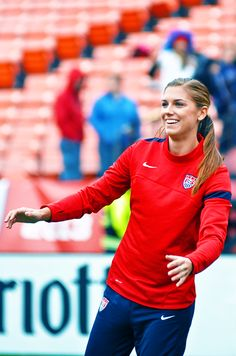Alex Morgan warming up before a #USWNT game.