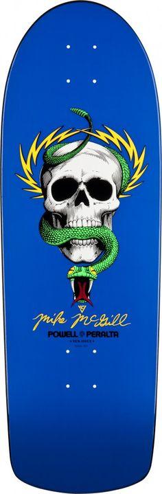 Mike McGill - Powel Peralta skate I still say Peralta was SUPER freakin smart to sign Tony Hawk at some money! Skateboard Deck Art, Skateboard Design, Old School Skateboards, Vintage Skateboards, Skate And Destroy, Skate Art, Skate Decks, Arte Horror, Skull Design
