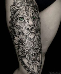 38 Neue Ideen Tattoo Mandala Animal Lion The post 38 Neue Ideen Tattoo Mandala Animal Lion appeared first on tätowierung. Tattoo Bein, Leo Tattoos, Forearm Tattoos, Body Art Tattoos, Tiger Thigh Tattoo, Tattoo Arm, Dragon Tattoos, Animal Mandala Tattoo, Mandala Tattoo Sleeve