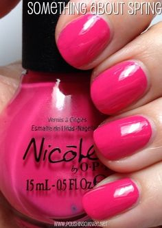 Nicole by OPI Something About Spring Nail Polish Blog, Best Nail Polish, Nail Polish Colors, Opi Nails, Nail Polishes, Nicole By Opi, Pretty Nail Colors, Pink Makeup, Fancy Nails