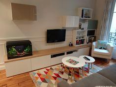Meuble TV sur mesure en customisant des caissons Besta Ikea
