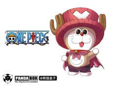 Mashup.  Doraemon + One Piece.