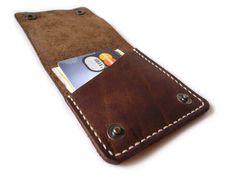 Код 114. Кожаное портмоне. — Кожаные чехлы для iPhone, iPad, Galaxy. Ручная работа.