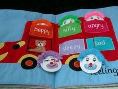 Emotion Quiet book Page