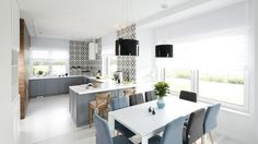 Projekt: arch. Maria Biegańska, arch. Ewelina Pik. Fot. Bartosz Jarosz Best Dining, Trends, Dining Room, Room Decor, Inspiration, Kitchen, Table, Design, Furniture